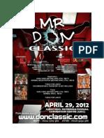 Mr Don Classic 2012