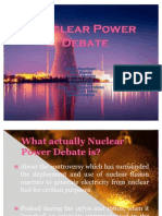 Nuclear Power Debate New