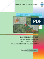 The Regional Impacts of Climate Change - An Assessment of Vulnerability - SPM - English