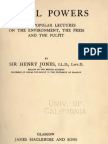Henry Jones SOCIAL POWERS Three Popular Lectures Glasgow 1913