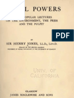 Henry Jones SOCIAL POWERS Three Popular Lectures Glasgow 1913