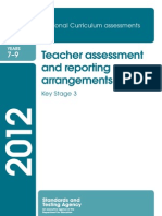 Assessment and Reporting Arrangements Key Stage 3