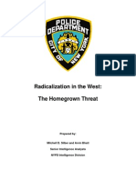 NYPD Report on Radicalization of Muslims in the West