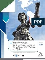 Informe sobre DDHH y discriminación del Movilh
