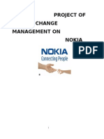 CHANGE MANAGEMENT ON  NOKIA