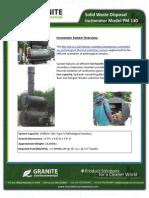 Solid Waste Disposal Incinerator Model PM 130