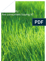 Sustainability Are Consumers Buying It