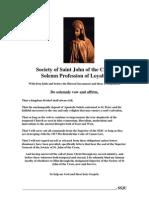 Profession of Loyalty to Christ Through the SSJC