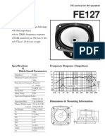Large bandwidth audio speaker FOSTEX datasheet fe127