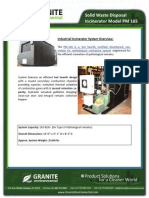 Solid Waste Disposal Incinerator Model PM 165