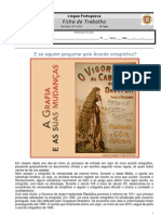 Ficha - Exercicios Novo Acordo Ortografico