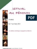 FESTIVAL AU FEMININ - 9e édition