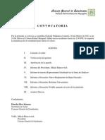 CONVOCATORIA ASAMBLEA