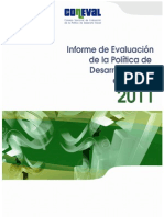 Informe de Evaluacion de Politica Social 2011