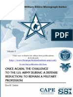 Once Again, the Challenge to the U.S. Army During a Defense Reduction