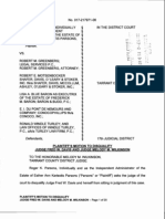 Plaintiff's Motion to Disqualify Judge Fred W. Davis and Judge Melody M. Wilkinson