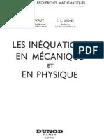 Les In Equations en Mecanique en Physique