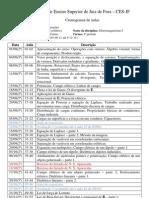 Cronograma de aulas Eletromag I 2ºSem-2011
