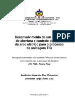 Desenvolvimento de um sistema de abertura e controle de altura do arco elétrico para o processo TIG