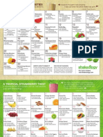 Shakeology Receipe Calendar