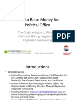 Fundraising for Your Political Campaign