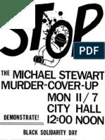 Michael Stewart Murder Coverup 1983