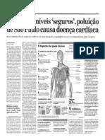 Mesmo em níveis seguros poluição de São Paulo causa doença cardíaca