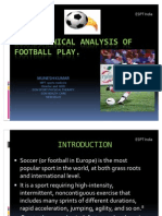 Bio Mechanical Analysis of Football