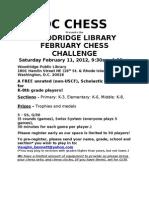 Woodridge Library Chess Challenge 2-11-12-1