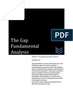 The Gap Investment Valuation