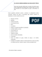 APOSTILA DE JOGOS E BRINCADEIRAS NA EDUCAÇÃO FÍSICA