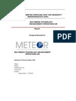 Sample Report of Kyko Psycho Metric Profiling Test for University Undergraduate Level
