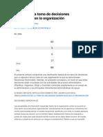 Análisis de la toma de decisiones gerenciales en la organización 3