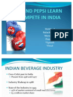 Coke and pepsi learn to compete in india case study questions