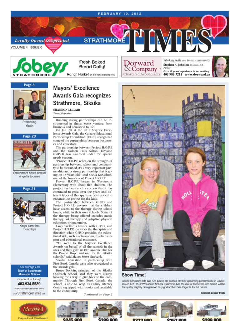 February 10, 2012 Strathmore Times | Payroll | Valentine's Day