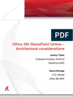 Office365 Share Point Online Architectural Considerations