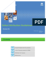 Defect Attribution Guidelines (Definition for Causes in IPMS)