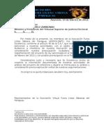 TSJE-Documentación entregada al Ministro Zambonini