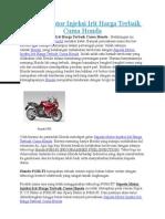 Sepeda Motor Injeksi Irit Harga Terbaik Cuma Honda
