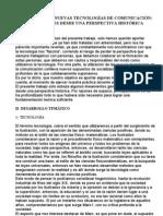 TECNOLOGÍA Y NUEVAS TECNOLOGÍAS DE COMUNICACIÓN