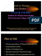 S. Lee and S.H. Saw- Latest Trends in Plasma Focus Fusion Studies