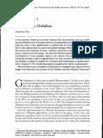 How to Judge Globalism - Sen