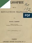 Paul Janet PHILOSOPHIE de La REVOLUTION FRANCAISE Paris 1875