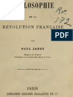 Paul Janet PHILOSOPHIE de La REVOLUTION FRANCAISE Paris 1875