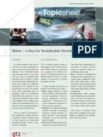 Water - A Key to Sustainable Development 1