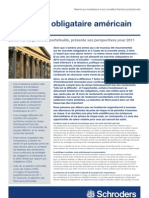 Schroders Les Obligations Americaines en 2011