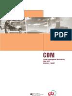 CDM Clean Development Mechanism.