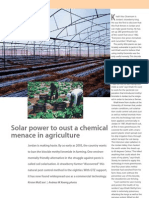 Solar Power to Oust a Chemical Menace in Agriculture. One En