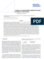 R. Erdélyi and R. J. Morton- Magnetohydrodynamic waves in a compressible magnetic flux tube with elliptical cross-section