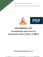 Procedimiento para revisar la transmisión entre POC y MBTS_PDH Siemens